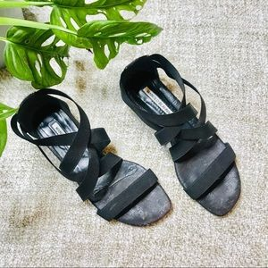 Manolo Blahnik Black Strappy Sandal Open Toe